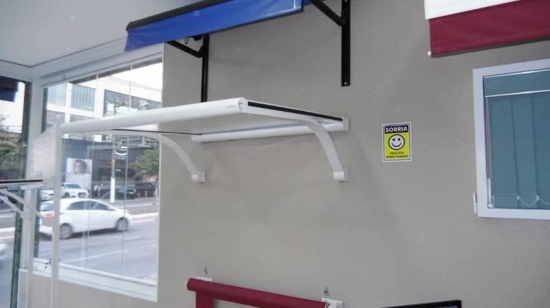 Toldo em Policarbonato Azul Preço Guararema - Toldo Fixos Policarbonato