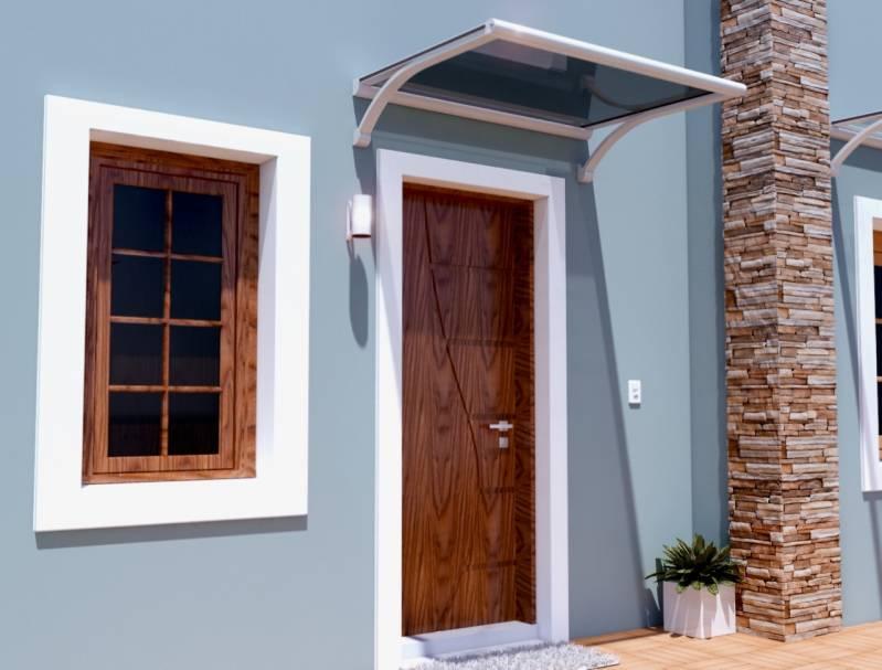 Toldo para Cobertura de Porta Poá - Toldo Porta de Vidro